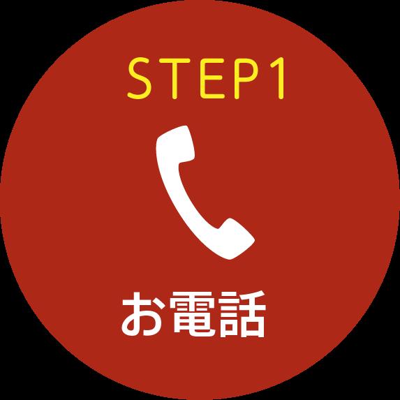 STEP1 お電話